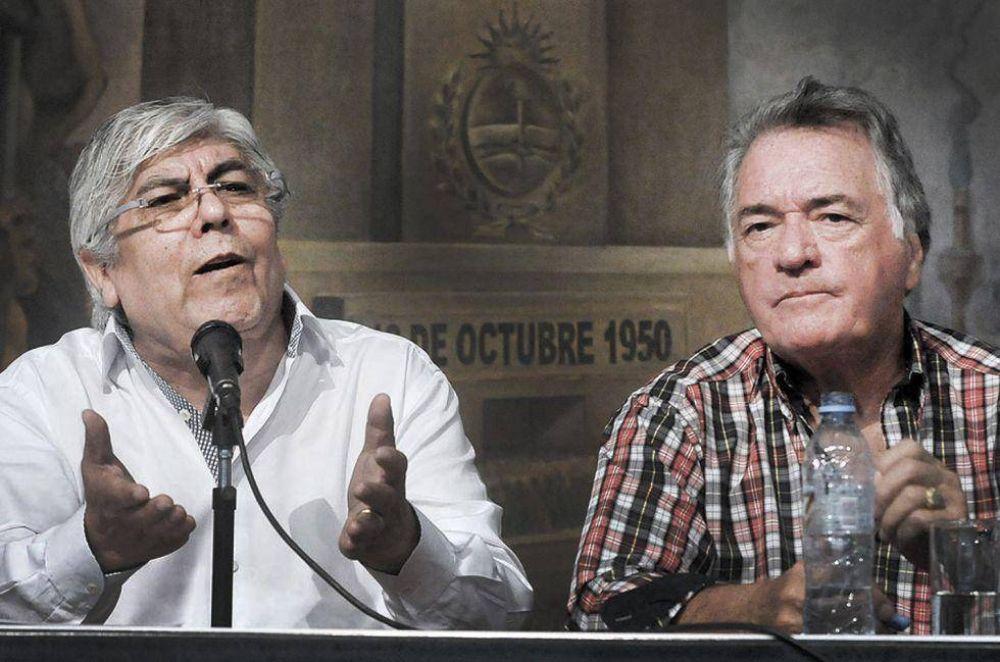 Barrionuevo y Moyano amenazan con un nuevo paro de 36 horas