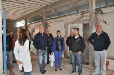 Speranza recorrió la obra de los consultorios externos del Hospital Municipal.
