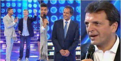 Tinelli juntó a los presidenciables: Scioli, Macri y Massa con sus esposas y sus imitadores