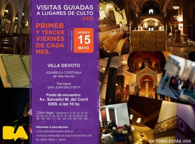 Visita guiada a lugares de culto de Villa Devoto