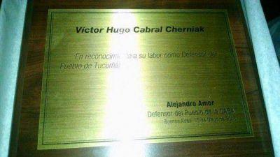 Distinguen a Hugo Cabral por su labor como Defensor del Pueblo de Tucumán