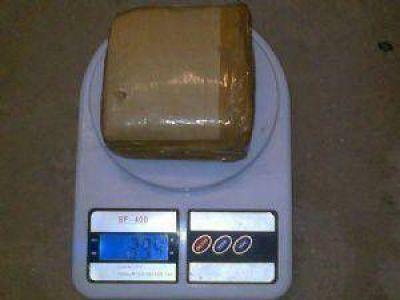 Secuestran casi medio kilo de marihuana