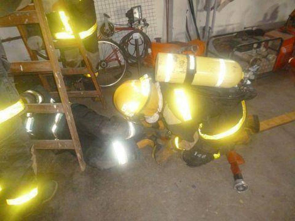 Capacitación a los nuevos aspirantes a bomberos