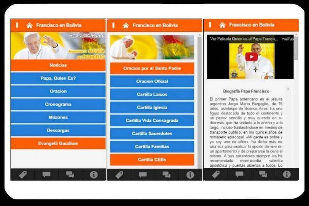 Desarrollan 'app' para la visita de Papa Francisco a Bolivia