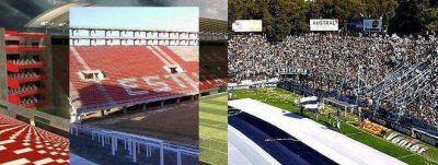 Los clubes platenses avanzan con las obras de sus estadios y la Ciudad contará con tres escenarios de primer nivel