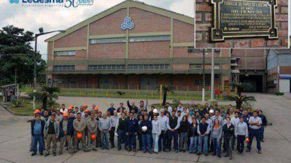 La Fábrica de Papel Ledesma celebró 50 años