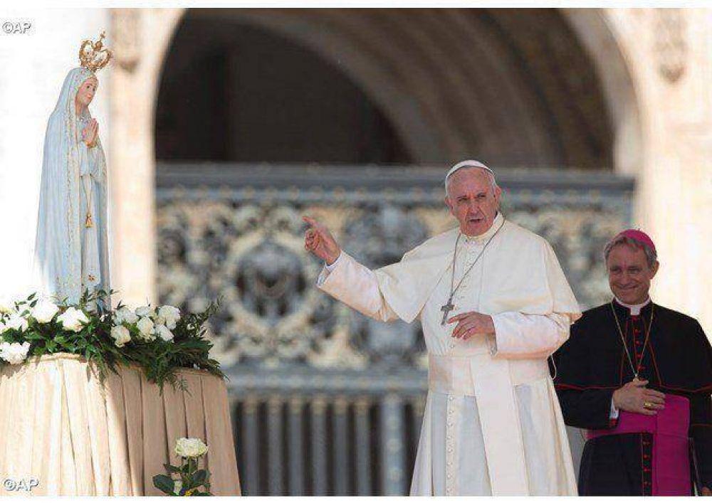 La Virgen de Fátima en la audiencia del Papa Francisco