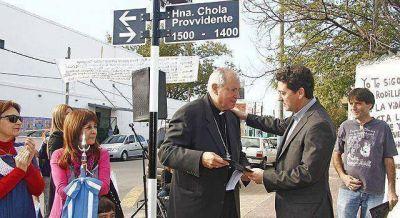 """Una calle de la Isla Maciel se llamará """"Hermana Chola Provvidente"""""""
