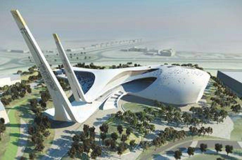 Mezquita con forma original en Qatar