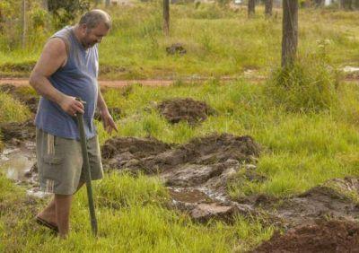 Declararon la emergencia hídrica en Candelaria por falta de desagües