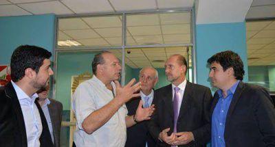 Marcos Cleri y Omar Perotti se reunieron con Sergio Berni