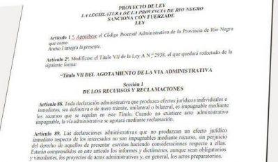 El STJ present� el proyecto del C�digo Procesal Administrativo para R�o Negro