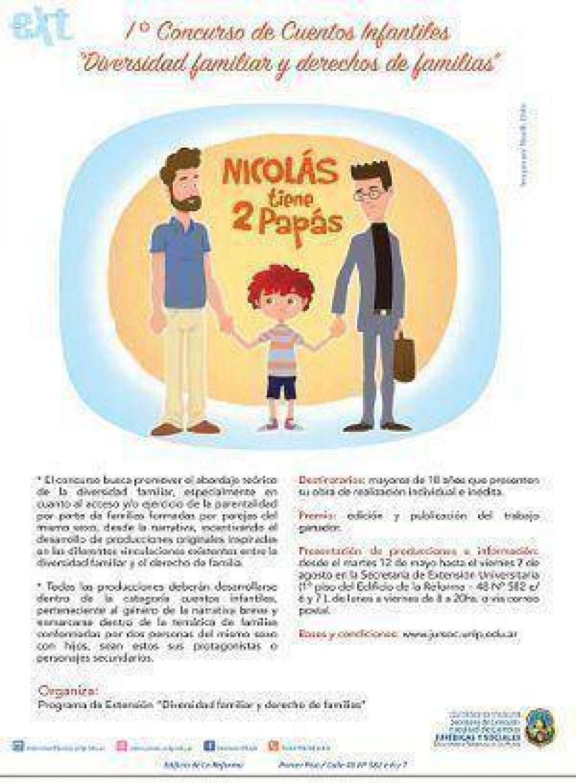 La Universidad Nacional de La Plata organiza un concurso de cuentos para niños sobre el «matrimonio» homosexual
