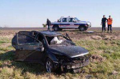 Una docente de la UNLu sufrió un accidente en ruta 5