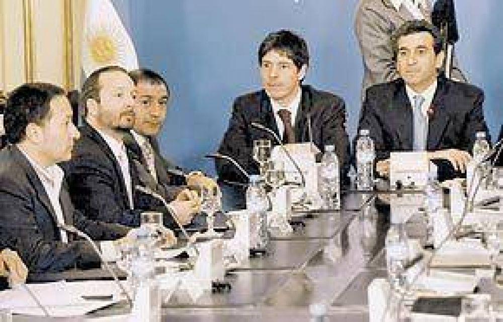 Juez, Macaluse y Sabbatella, en otra ronda del diálogo