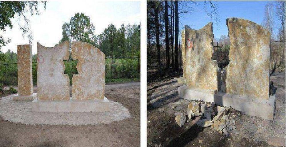 Polonia: Se destruyó un monumento en memoria de la comunidad judía que fue masacrada en el Holocausto