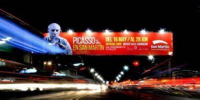 Abri� una muestra original de Picasso en San Mart�n