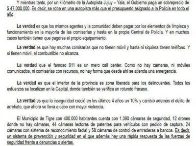 EL GOBIERNO NO TIENE POLÍTICA DE SEGURIDAD