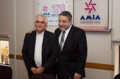 """Mons. Lozano se reunió con el presidente de AMIA """"La cultura del encuentro es posible"""""""