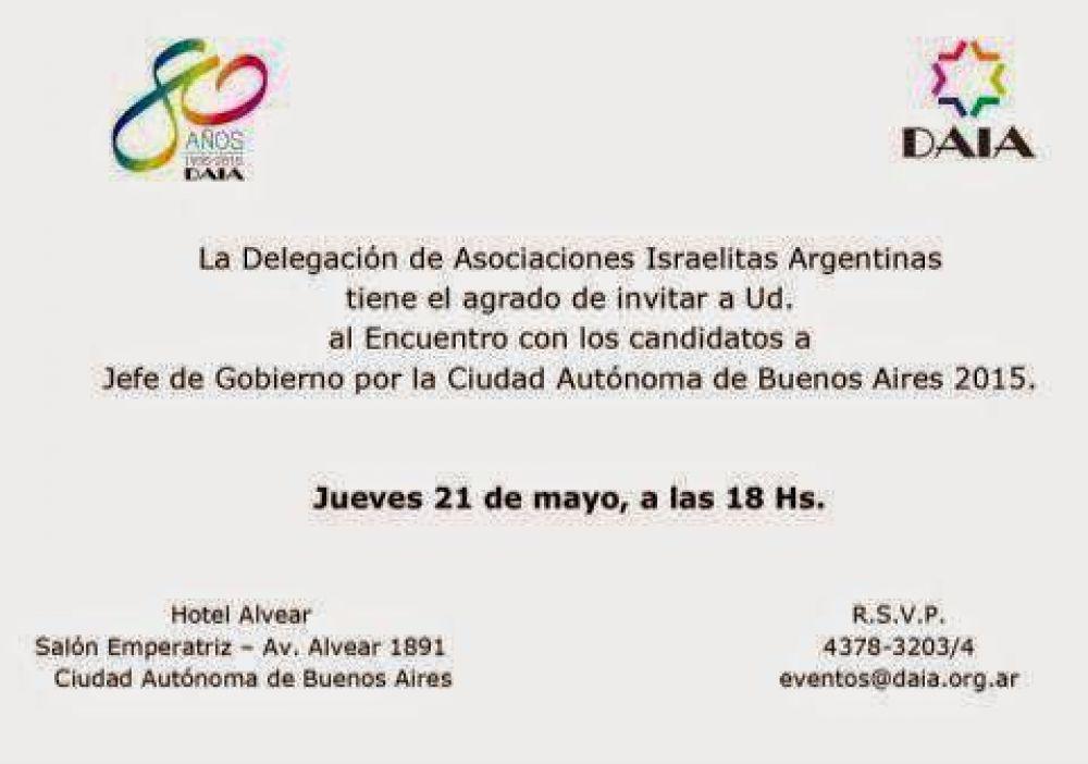 La DAIA se reunirá con los candidatos a Jefe de Gobierno por la Ciudad Autónoma de Buenos Aires