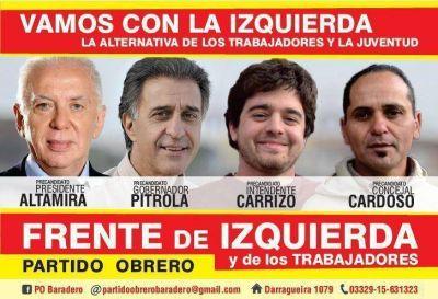 Lanzamiento de Candidaturas del Frente de Izquierda – Partido Obrero en Baradero