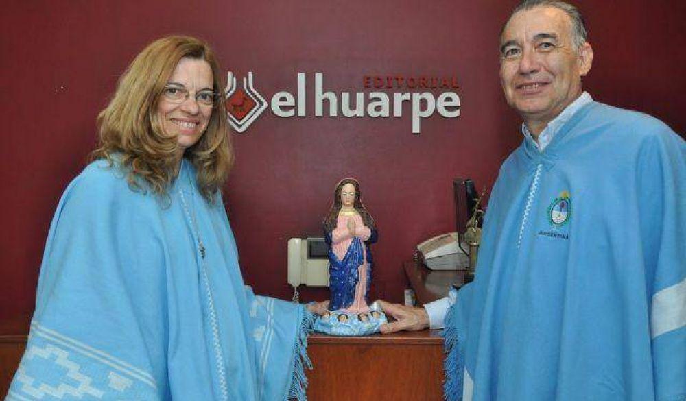 La Virgen que recorre el país y latinoamérica llegó a San Juan