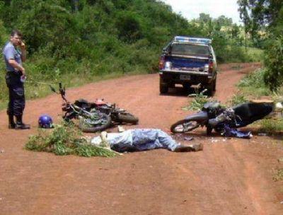 Falleci� un motociclista tras colisionar con otra moto en Curuz� Cuati�