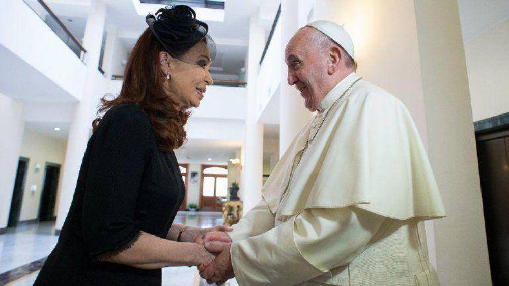 El papa Francisco le envió una carta a Cristina con motivo de los festejos por el 25 de Mayo