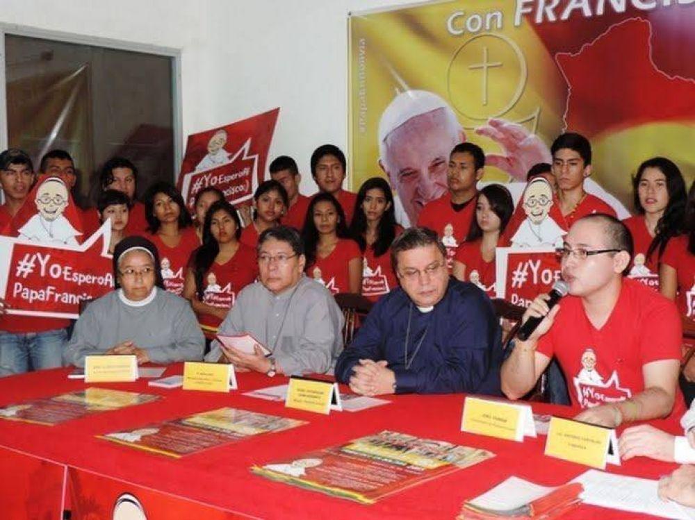 15 mil jóvenes serán voluntarios en Bolivia para la visita del Papa