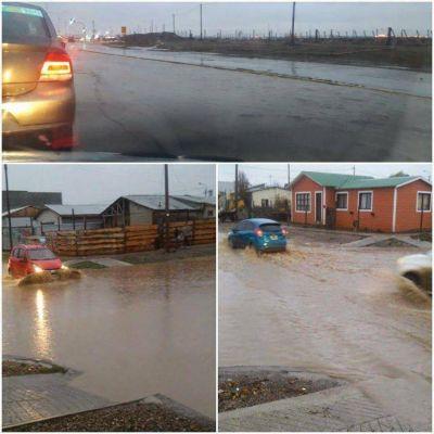 Por las lluvias Rio Grande inundada