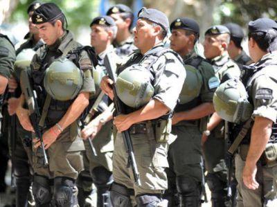 Al final llegan s�lo 400 gendarmes para reforzar la seguridad en las calles de Rosario