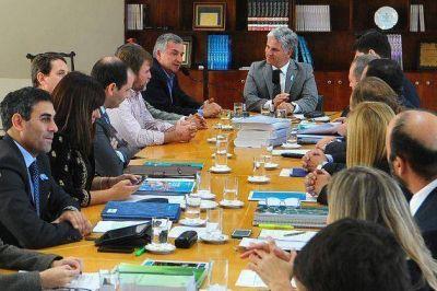 El gobernador Poggi recibió al senador nacional radical, Gerardo Morales