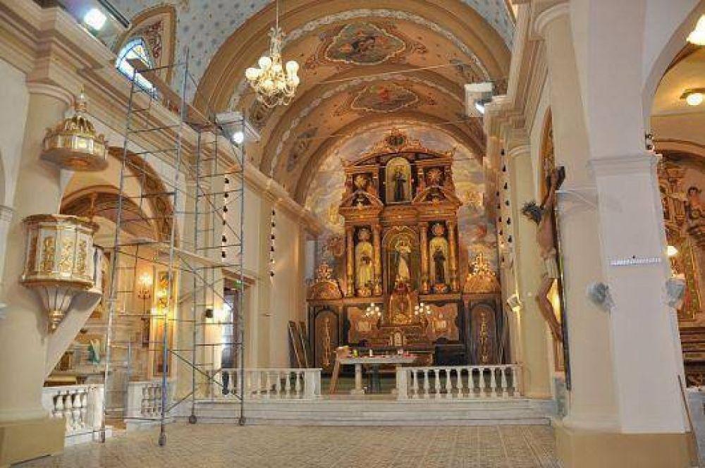 La Iglesia San Francisco ya luce a pleno, con sus obras de restauración en proceso de finalización