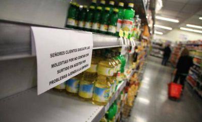 Ya hay faltante de aceite en los súper sanjuaninos por un paro nacional