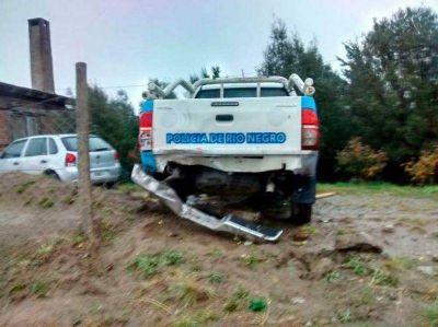Iba rápido y ebrio: chocó de atrás a un patrullero policial