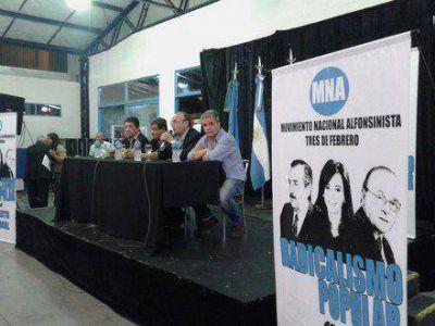Se presentó el Movimiento Nacional Alfonsinista de Tres de Febrero