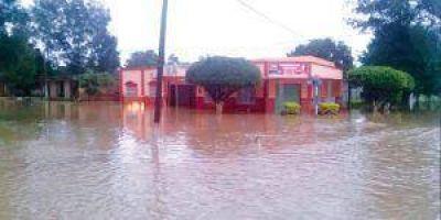 Localidades del norte provincial inundadas por intensas lluvias