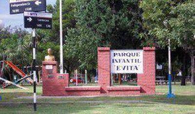 Reconvertirán la iluminación del Parque Evita de Crespo