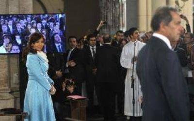 Cristina participó del tedeum en Luján