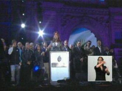 Urtubey e Isa acompañaron a CFK en el acto central por los festejos del 25 de mayo
