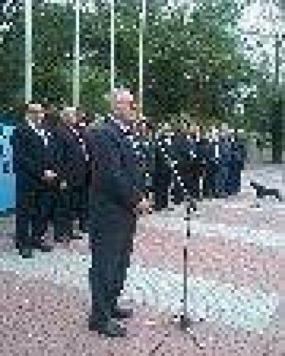 El ministro Zorrilla presidio acto patrio en Las Lomitas