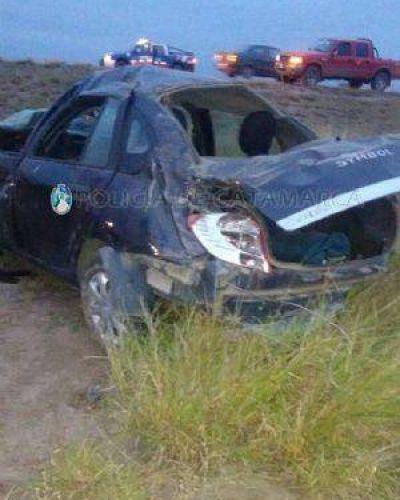 Volcó un auto en la Circunvalación y falleció miembro de Meditazen