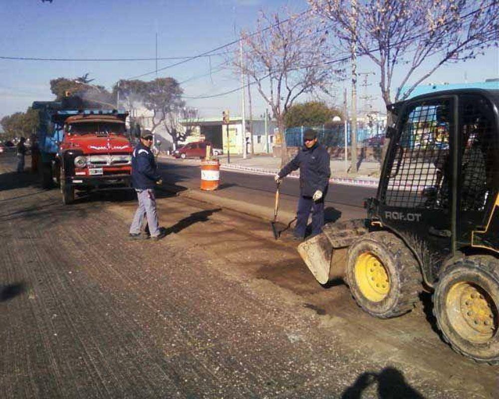 Luego de un parate de dos semanas. El municipio volvió a realizar tareas en la Av Lavalle