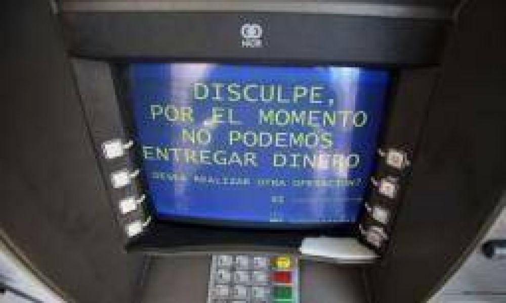 Por el paro bancario, hay faltante de dinero en los cajeros