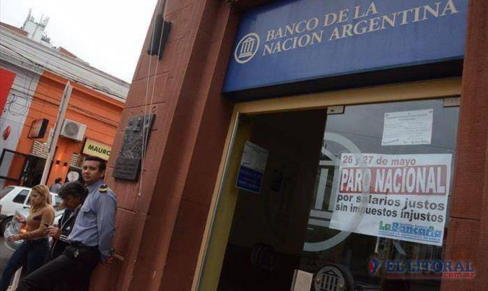 Paro bancario: el segundo día también tuvo alta adhesión y hoy vuelven a la actividad