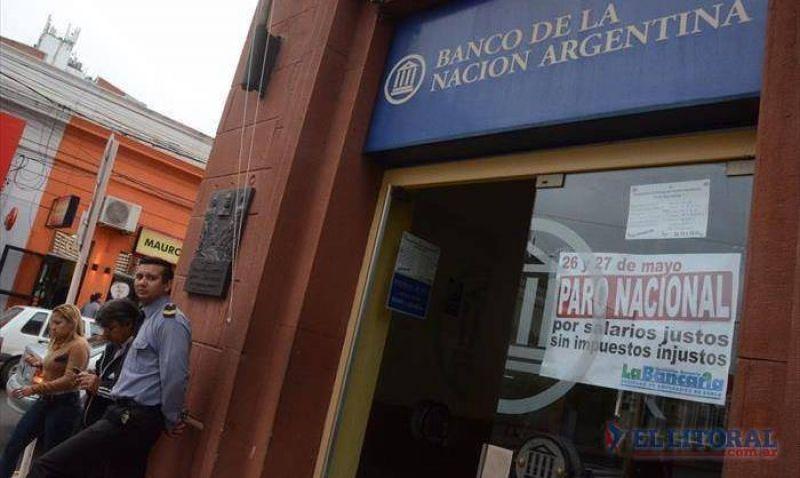 Paro bancario: el segundo d�a tambi�n tuvo alta adhesi�n y hoy vuelven a la actividad