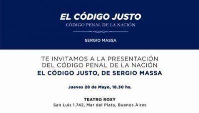 """Sergio Massa presentará este jueves en Mar del Plata """"El Código Justo"""""""