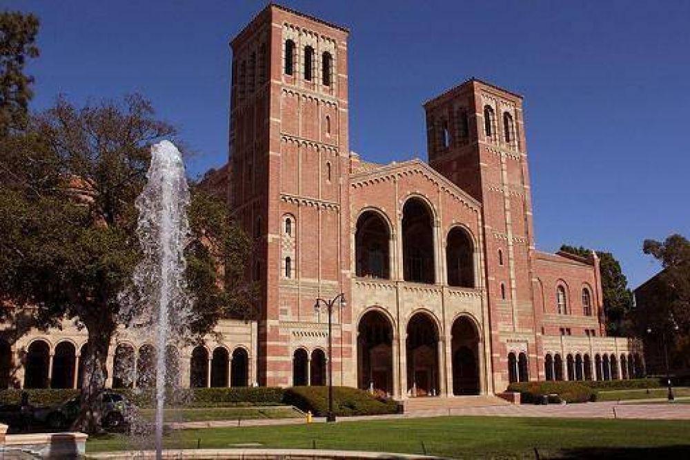 Alumnos de la Universidad de California en Los Angeles protestaron contra el antisemitismo