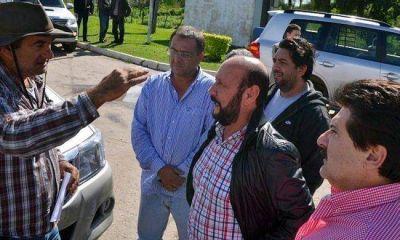 Insfrán verificó obras hidráulicas en Clorinda
