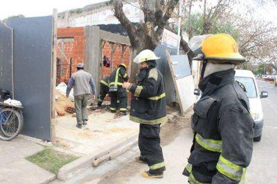 Escape de gas en una obra en construcción